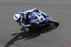 Roberto Tamburini #91 on Suzuki GSX-R 600 NS Suriano Corse Supersport championship WSS Royalty Free Stock Image