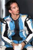 Roberto Tamburini #91 on Suzuki GSX-R 600 NS Suriano Corse Supersport championship WSS royalty free stock images