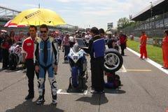 Roberto Tamburini #91 on Suzuki GSX-R 600 NS Suriano Corse Supersport championship WSS royalty free stock photos