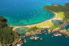 海湾海岛海岛新的roberton西兰 免版税图库摄影