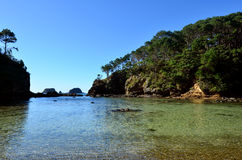 Roberton Island in the Bay of Islands New Zealand Stock Photos