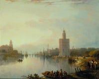 Roberts David, Los Angeles, - Torre Del Oro, 1833 fotografia royalty free