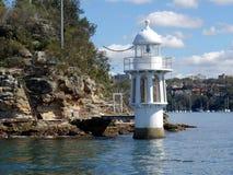 Robertson Point Lighthouse en el punto de Cremorne Fotografía de archivo