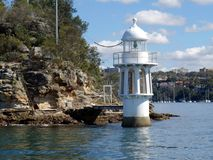 Robertson Point Lighthouse op Cremorne-Punt Stock Fotografie