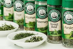 Robertsons Herbs and Spices Royalty Free Stock Images