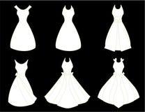 Robes de blanc Image stock