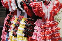 Robes de flamenco Image libre de droits