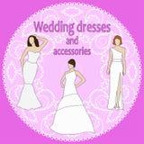 Robes de mariée Image libre de droits