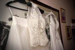 Robes de mariage Photographie stock libre de droits