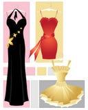 Robes de réception illustration stock
