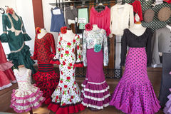 Robes espagnoles traditionnelles de flamenco Photos stock