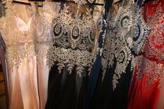 Robes formelles de fantaisie de fabrication d'industrie de vêtement pour de nouvelles années ou bal d'étudiants ! photos libres de droits