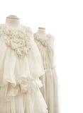 Robes nuptiales sur des mannequins Images libres de droits