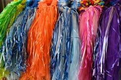 Robes principales colorées sur l'affichage image stock