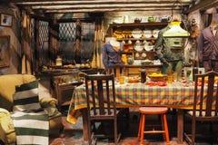 Robić Harry Poter jest jawnym przyciąganiem w Leavesden, Londyn który konserwuje ikonowych wsparcia i pokazuje, UK obraz stock