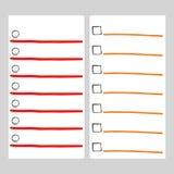 Robić listy strony wektorowym szablonom z markierami doodle elementy royalty ilustracja