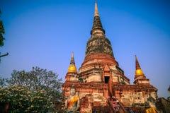Robić zasłudze dla 9 świątyni na wakacjach w Ayutthaya fotografia royalty free