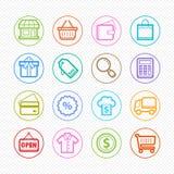 Robiący zakupy kolor ikony na białym tle - Wektorowa ilustracja ilustracja wektor