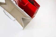 Robiący zakupy papierową torbę odizolowywającą na białym tle Zdjęcie Stock