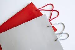 Robiący zakupy papierową torbę odizolowywającą na białym tle Zdjęcia Stock