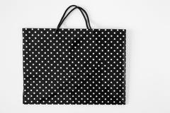 Robiący zakupy papierową torbę odizolowywającą na białym tle Obrazy Royalty Free