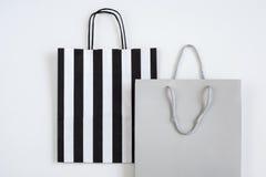 Robiący zakupy papierową torbę odizolowywającą na białym tle Zdjęcie Royalty Free
