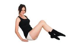 robić ćwiczeń sporta kobiety potomstwom Zdjęcia Stock