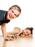 robić ćwiczeń sprawności fizycznej grupy ludzi Zdjęcia Royalty Free
