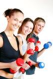 robić ćwiczeń sprawności fizycznej grupy ludzi Obraz Stock