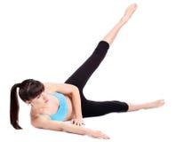 robić ćwiczeń sprawności fizycznej kobiety obraz stock