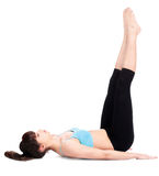 robić ćwiczeń sprawności fizycznej kobiety zdjęcie royalty free