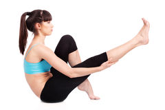 robić ćwiczeń sprawności fizycznej kobiety obraz royalty free