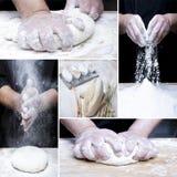 Robić chlebowemu kolażowi Zdjęcia Stock