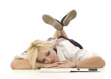 robić dosyć nastoletniej dziewczyny pracie domowej Zdjęcie Stock