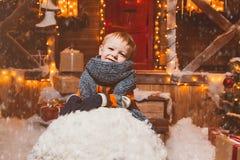 Robić duży snowball Zdjęcia Royalty Free