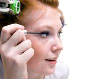 robić dziewczyny makeup rudzielec nastoletniej zdjęcia stock