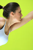 robić exericise żeński joga yogatic potomstwom obraz stock