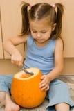 Robić Halloween latern zdjęcie stock