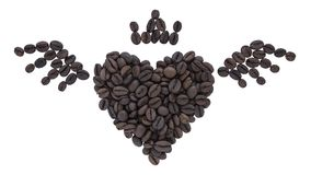 robić kawowy fasoli serce kształt obraz stock