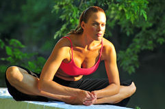 robić kobiety joga obrazy stock