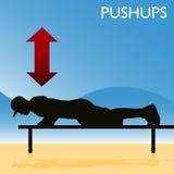 robić mężczyzna pushups Obraz Stock