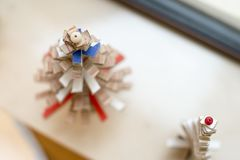 Robić małej choinki karton Fotografia Stock