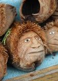 Robić od kokosowej twarzy rynkowi w Azja zdjęcie royalty free