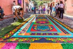 Robić Pożyczającemu dywanowi, Antigua, Gwatemala Zdjęcia Royalty Free