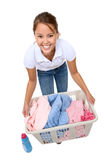robić pralnianej ładnej kobiety Obraz Stock