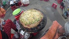 Robić sławnemu streetfood, piec na grillu ryżowy papier zdjęcie wideo