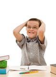 robić szczęśliwy praca domowa jego uczeń Zdjęcia Royalty Free