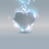 robić szklany serce royalty ilustracja