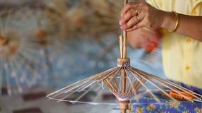 Robić Tajlandzki stylu papieru parasol zbiory wideo