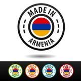 Robić w Armenia odznakach z flaga Płaski Eps10 wektor Obrazy Stock